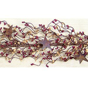 "Burgundy and Soft Gold Pip Berry 40"" Garland With"